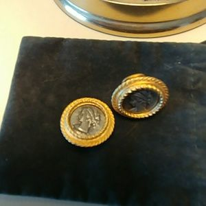 Jewelry - Clip on coin earrings